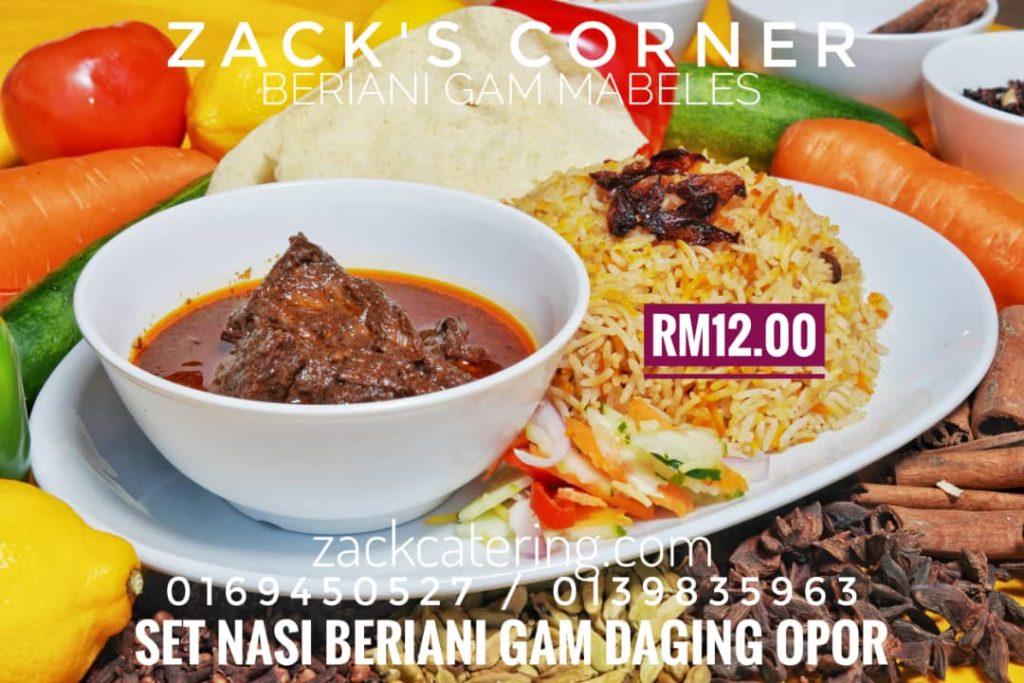 Nasi Beriani Gam Daging Opor
